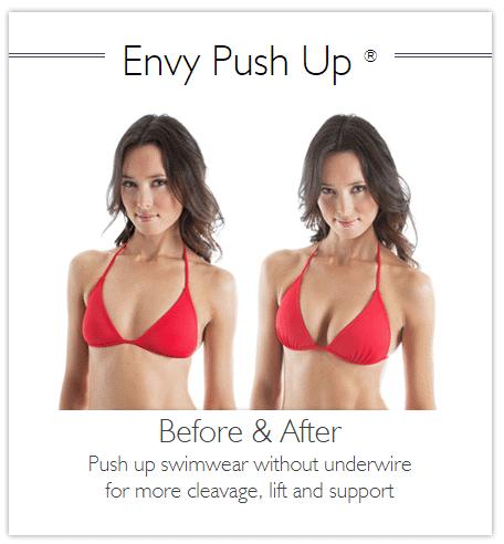 push up swimwear envy