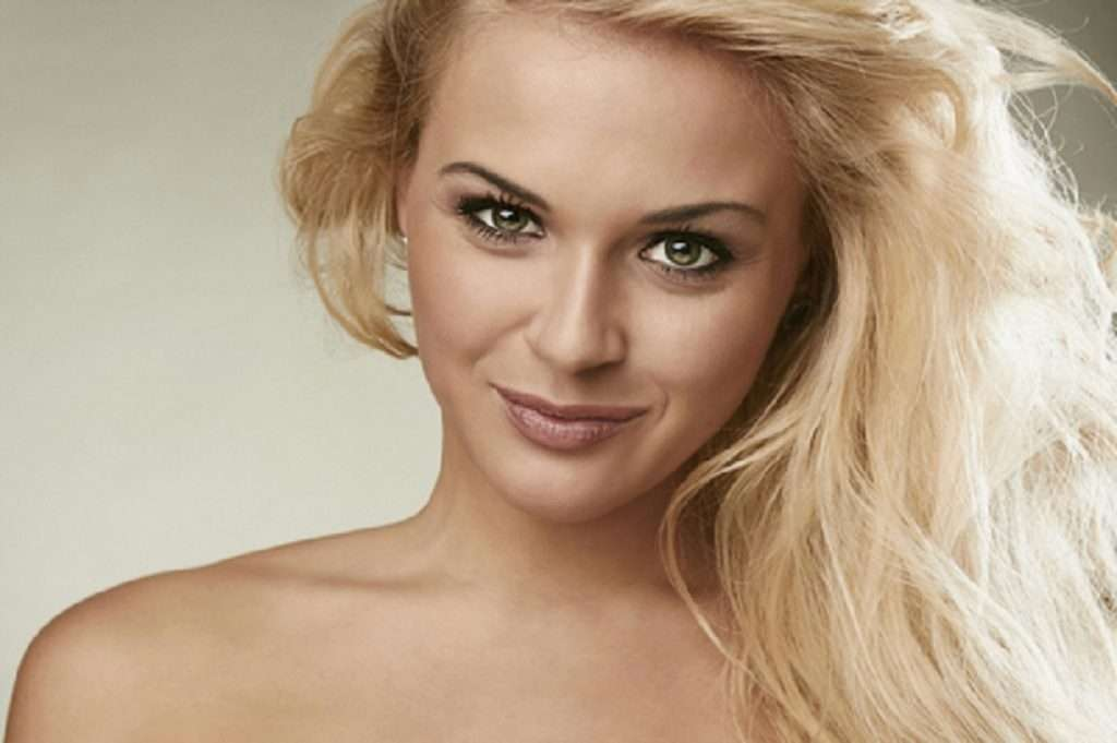 woman smiling blond hair