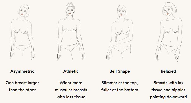 thirdlove boob types