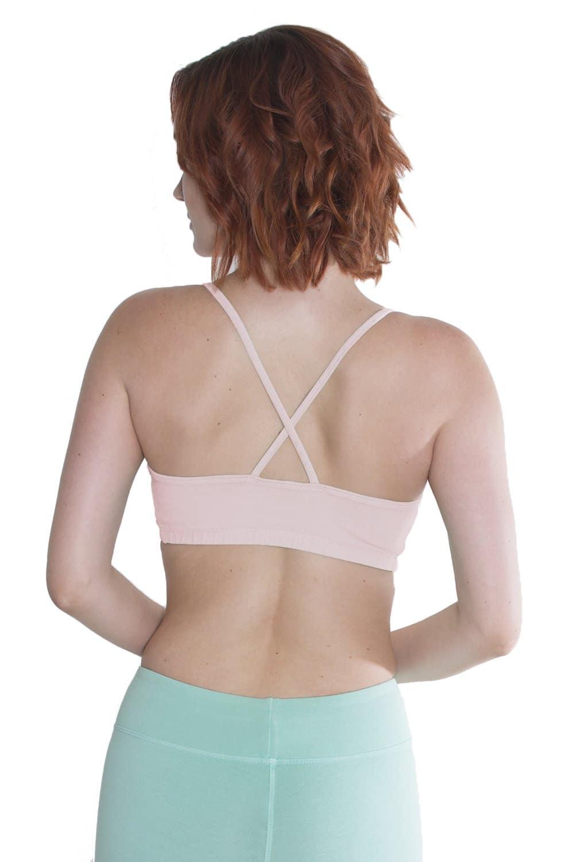 women in a organic bra top